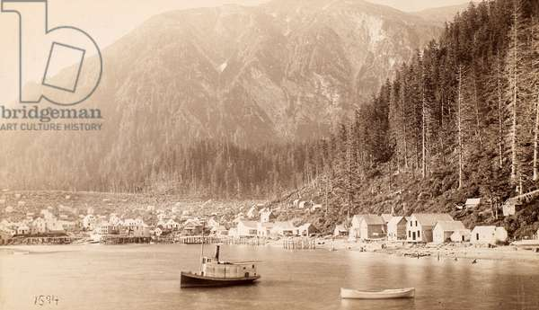 ALASKA: JUNEAU, 1887 Juneau, Alaska, in a photograph from 1887.