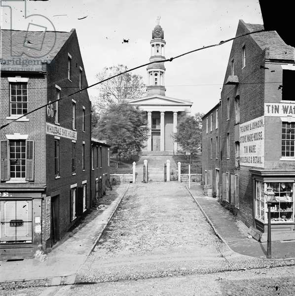 CIVIL WAR: COURTHOUSE Courthouse in Petersburg, Virginia. Photograph, 1865.