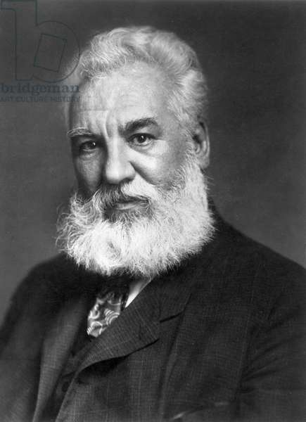 ALEXANDER GRAHAM BELL (1847-1922) American (Scottish-born) teacher and inventor. Photographed in 1904.