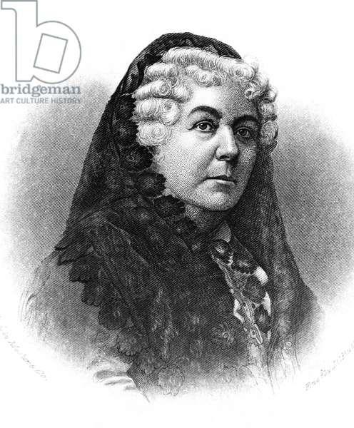 ELIZABETH CADY STANTON (1815-1902). American women's suffrage advocate. Steel engraving, American, 19th century.