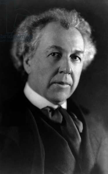 FRANK LLOYD WRIGHT (1869-1959). American architect. Photograph, March 1926.