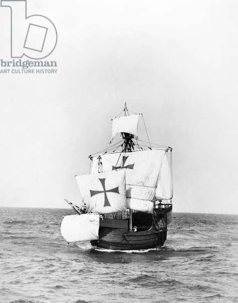 COLUMBUS: SANTA MARIA A modern replica of Christopher Columbus' caravel, Santa Maria, made for a motion picture.