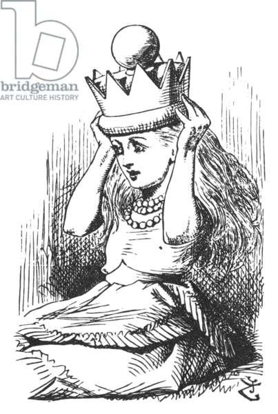 CARROLL: ALICE, 1872 Illustration by Sir John Tenniel for Lewis Carroll's 'Alice's Adventures in Wonderland.' Illustration, 1872.