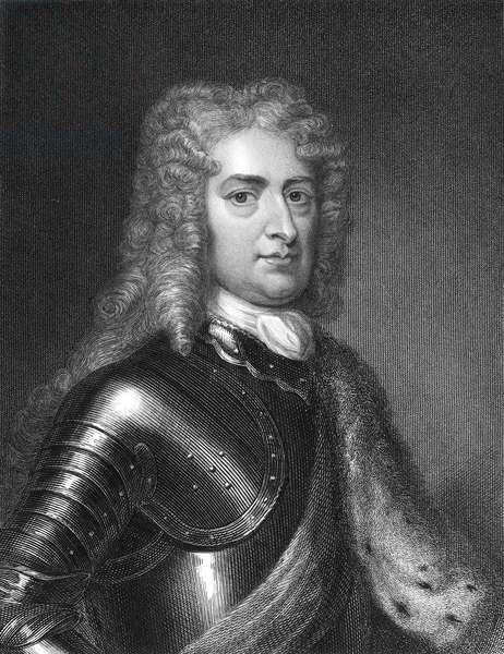 JOHN CHURCHILL (1650-1722) 1st Duke of Marlborough. English military commander. Steel engraving, 1835, after Sir Godfrey Kneller.
