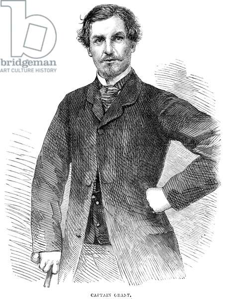 JAMES AUGUSTUS GRANT (1827-1892). Scottish soldier and explorer. Wood engraving, English, 1863.