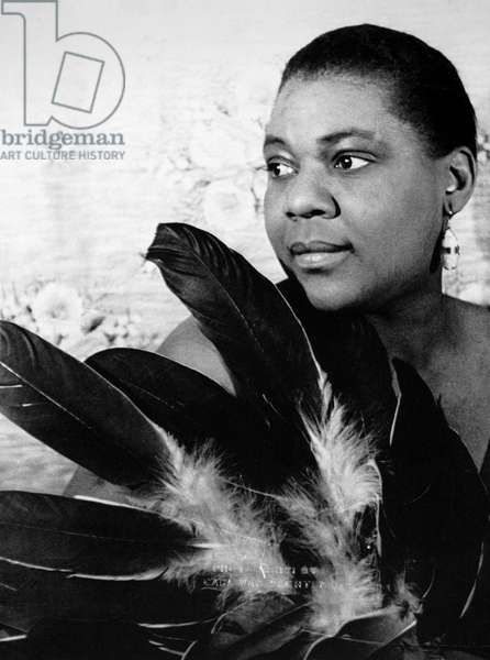 BESSIE SMITH (1894-1937) American singer and songwriter. Photograph, by Carl Van Vechten, 1936.