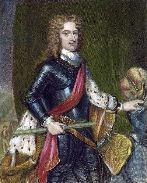 JOHN CHURCHILL (1650-1722) 1st Duke of Marlborough, English military commander. Steel engraving, English, 1836, after Sir Godfrey Kneller.