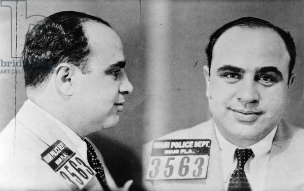 AL CAPONE (1899-1947) American gangster. Photographed after his arrest in Miami, Florida, c.1930.