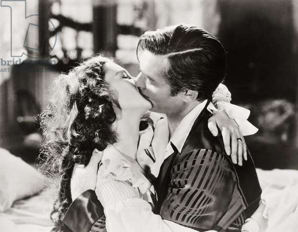 GONE WITH THE WIND, 1939 Vivien Liegh and Clark Gable in a scene from the film.