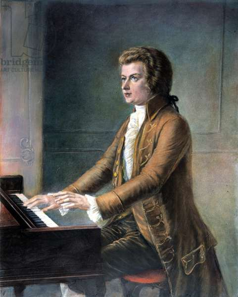 WOLFGANG AMADEUS MOZART (1756-1791). Austrian composer. After a painting by Moritz Rödig (1844-1918).