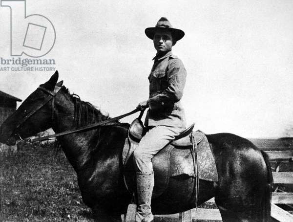 HARRY S. TRUMAN (1884-1972). Thirty-third President of the United States. Truman as a member of the National Guard in Missouri. Photographed c.1918.