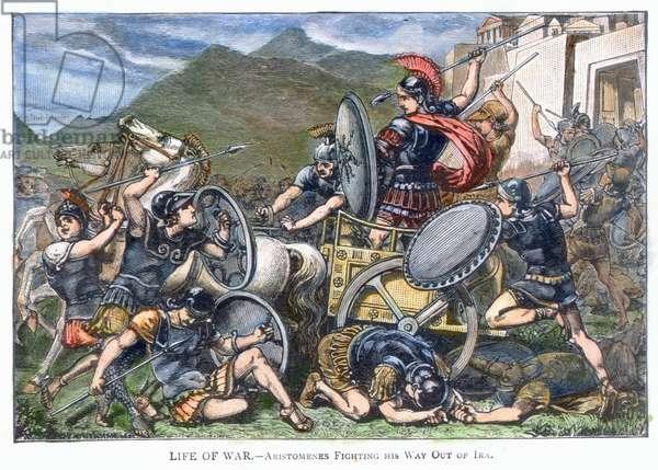 ARISTOMENES OF MESSENIA (7th century B.C.). Fighting Spartan warriors.
