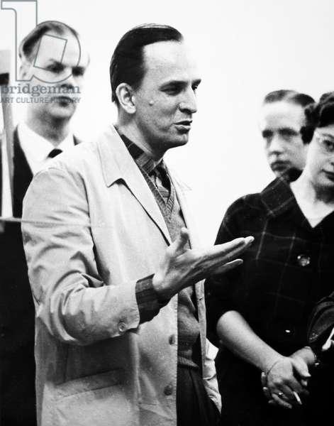 INGMAR BERGMAN (1918-2007) Swedish writer and director. Photographed while directing 'The Rake's Progress,' c.1960.