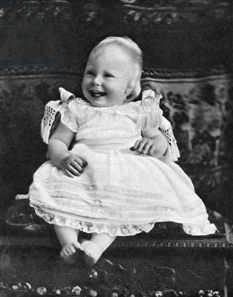 EDWARD VIII (1894-1972) King of Great Britain, later Duke of Windsor. Photographed at age one, 1895.