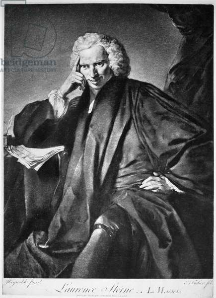 LAURENCE STERNE (1713-1768) British novelist. Mezzotint after a painting by Sir Joshua Reynolds.