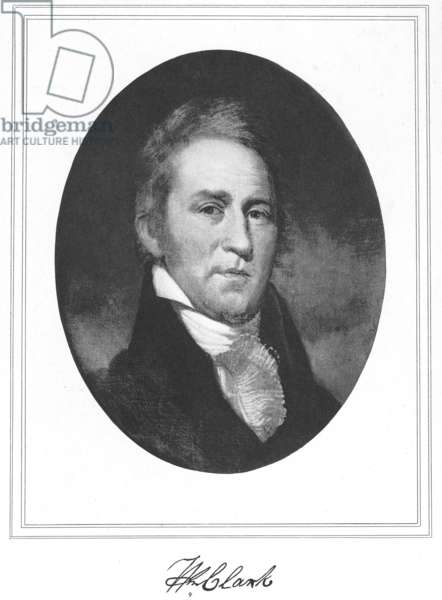 WILLIAM CLARK (1770-1838) American explorer. Gravure after a painting by Charles Willson Peale.