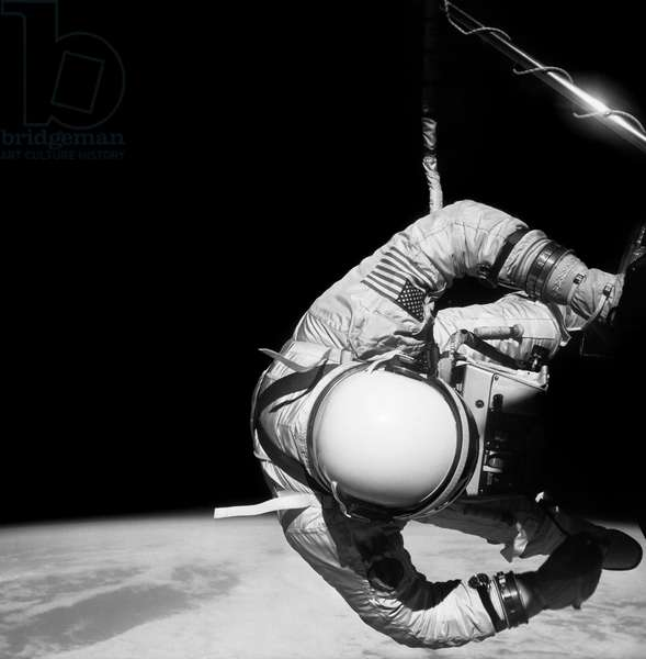 GEMINI 12, 1966 Astronaut Edwin 'Buzz' Aldrin performing a spacewalk during the Gemini 12 mission, 1966.