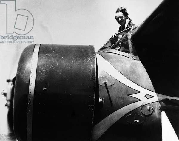 AMELIA EARHART (1897-1937) American aviator. Photograph, 1932.