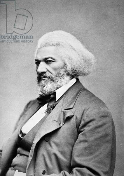 FREDERICK DOUGLASS ( c.1817-1895). American abolitionist. Photographed 1885.
