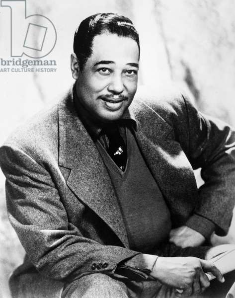 DUKE ELLINGTON (1899-1974) American musician and composer. Photographed in 1955.