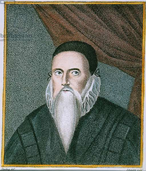 JOHN DEE (1527-1608) English mathematician and astrologer. English engraving, 1792.