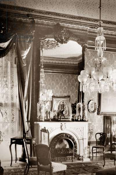 NEW ORLEANS: HOUSE, c.1930 The parlor of the Albert Hamilton Brevard House in New Orleans, Louisiana. Photograph, c.1930.