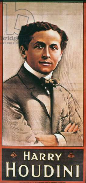 HARRY HOUDINI (1874-1926) American magician. Lithograph poster, American, 1911.
