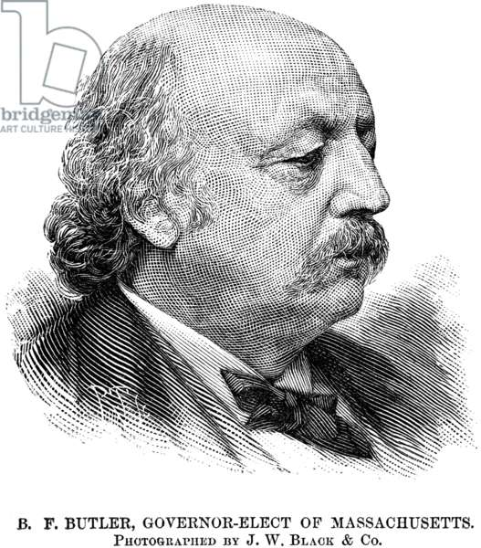 BENJAMIN BUTLER (1818-1893) Civil war general and politician. American engraving, 1882.