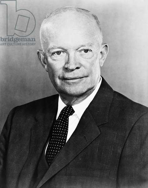 DWIGHT D. EISENHOWER (1890-1969). 34th President of the United States. Photograph, c.1955.