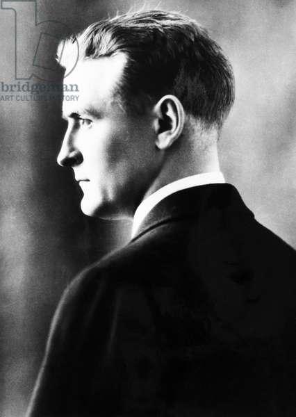 F. SCOTT FITZGERALD (1896-1940) Francis Scott Key Fitzgerald. American writer.