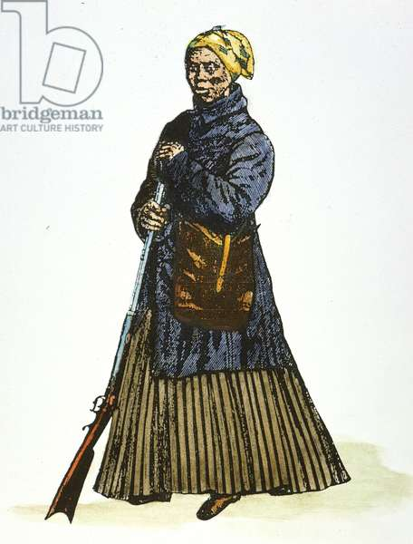 HARRIET TUBMAN ( c.1823-1913) American abolitionist. Wood engraving, 19th century.