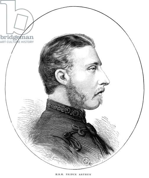 DUKE OF CONNAUGHT (1850-1942). Prince Arthur, Duke of Connaught and Strathearn. English engraving, 1872.