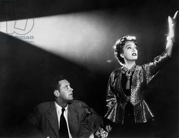 SUNSET BOULEVARD, 1950 Gloria Swanson and William Holden in a scene from the film, 'Sunset Boulevard,' directed by Billy Wilder, 1950.