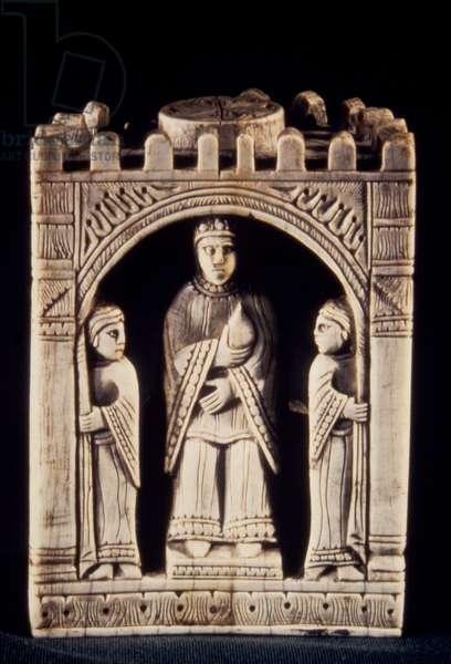 CHESS PIECE, 11th-12th C European ivory chess piece, 11th-12th century.