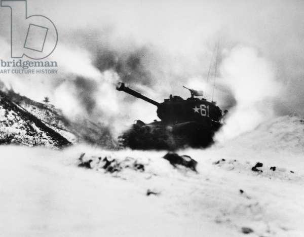 KOREAN WAR: TANK, 1952 U.S. Army tank in North Korea. Photographed 1952.
