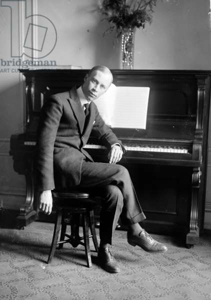 SERGEI PROKOFIEV (1891-1953) Russian composer. Photograph, c.1918.