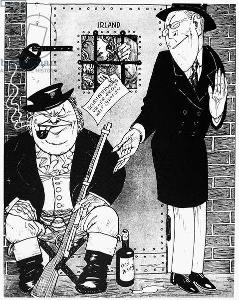 FREEDOM FOR IRELAND, 1919 'Freedom for Ireland? That is an entirely different matter.' Cartoon, 1919, by Werner Hanmann, in the German satirical paper 'Kladderadatsch.'