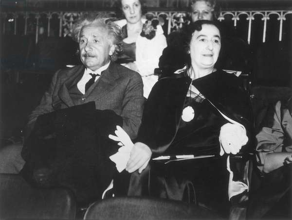 ALBERT EINSTEIN (1879-1955) American (German-born) theoretical physicist. With his second wife, Elsa.