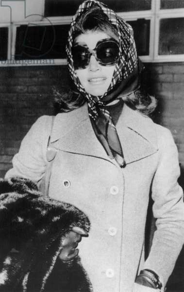 JACQUELINE KENNEDY ONASSIS (1929-1994). Wife of Aristotle Onassis and President John Fitzgerald Kennedy. Photographed in London, 3 January 1972.