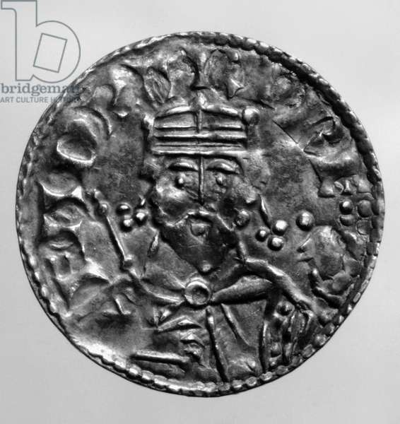 EDWARD THE CONFESSOR ( c.1003-1066). Last Anglo-Saxon king of England, 1042-1066. Edward on a silver penny from a die attributed to Master Theodoric, 1065.