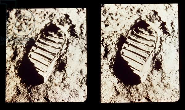 APOLLO 11: FOOTPRINT, 1969 Neil Armstrong's footprint on the surface of the moon. Photograph, 1969.