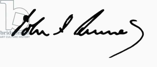 JOHN F. KENNEDY (1917-1963). 35th President of the United States. Autograph signature.
