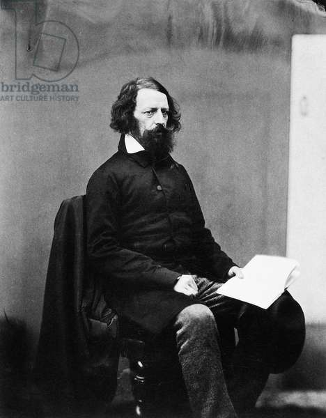 ALFRED TENNYSON (1809-1892) 1st Baron Tennyson. English poet. Photographed by James Mudd, c.1860.