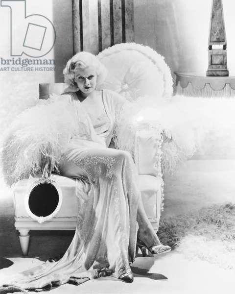 JEAN HARLOW (1911-1937) American film actress.