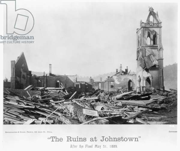 JOHNSTOWN FLOOD, 1889 Wreckage after the flood at Johnstown, Pennsylvania, May 31, 1889.