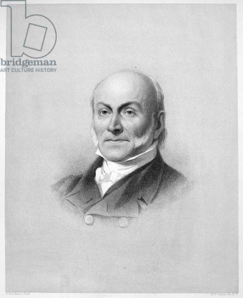 JOHN QUINCY ADAMS (1767-1848). Sixth President of the United States. Line and stipple engraving, American, 1884.