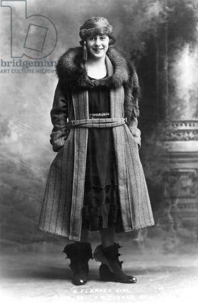 WOMEN'S FASHION: 1920s A 'Flapper Girl', 1922.