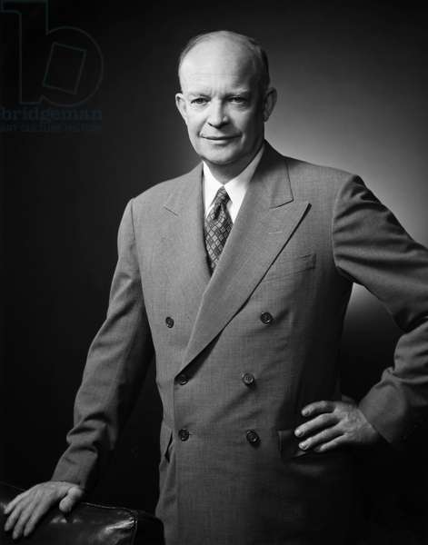 DWIGHT D. EISENHOWER (1890-1969). 34th President of the United States.