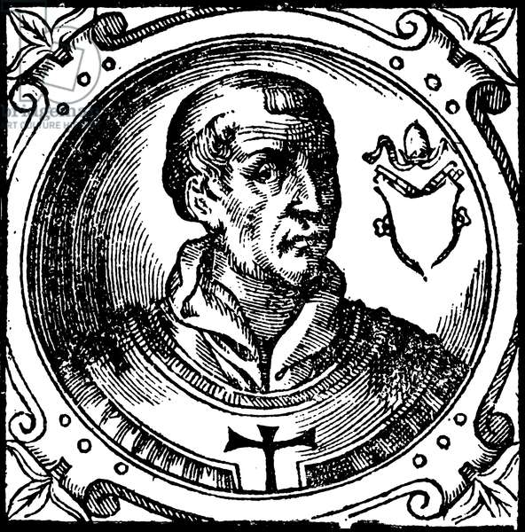 POPE LEO IV, 9th CENTURY Roman pope. Engraving from Platina's Lives of the Popes.