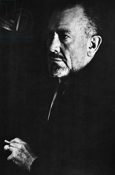 JOHN STEINBECK (1902-1968) American writer. Photographed in 1961 by Gisele Freund.
